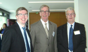 Image left to right Justin Martin, RSA, Tom Murphy, Professional Agricultural Contractors of Ireland and Liam Duggan, RSA Director of Vehicle Testing and Enforcement