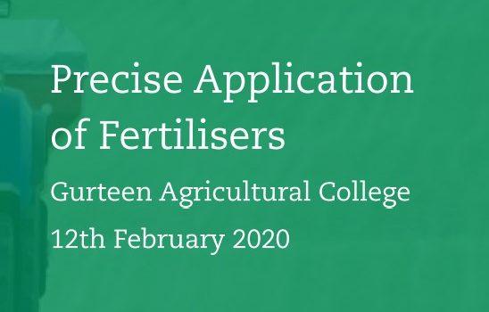 Teagasc – Precise Application of Fertilisers